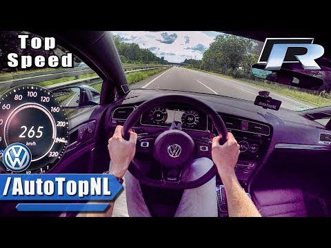 2018 VW GOLF R ACCELERATION & TOP SPEED - AUTOBAHN POV - by AutoTopNL