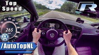 2018 VW GOLF R ACCELERATION & TOP SPEED - AUTOBAHN POV - by AutoTopNL