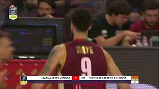 HIGHLIGHTS/ Umana Reyer Venezia - Segafredo Virtus Bologna 71-70