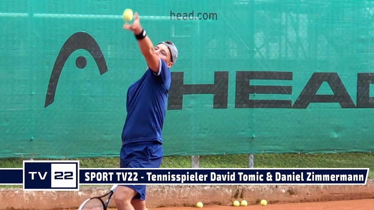 SPORT TV22: Die beiden Nachwuchs-Tennisspieler David Tomic und Daniel Zimmermann