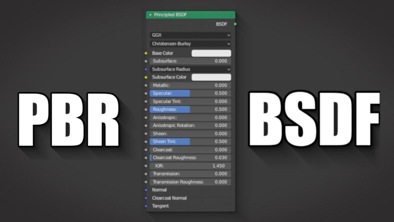 Blender 2 8 How to use PBR textures with principled bsdf Cycles/Eevee