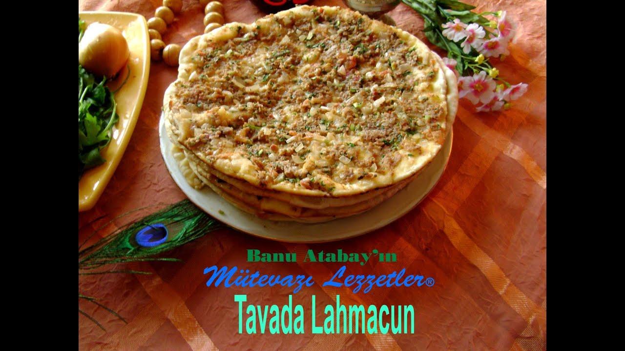 Tavada Lahmacun (Yemek Tarifleri) - YouTube