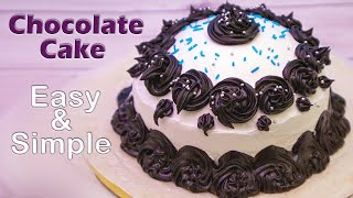 Chocolate Cake Recipe without egg by tick tock kitchen  Eggless Chocolate Cake Recipe