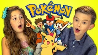 KIDS REACT TO POKEMON (Retro TV)