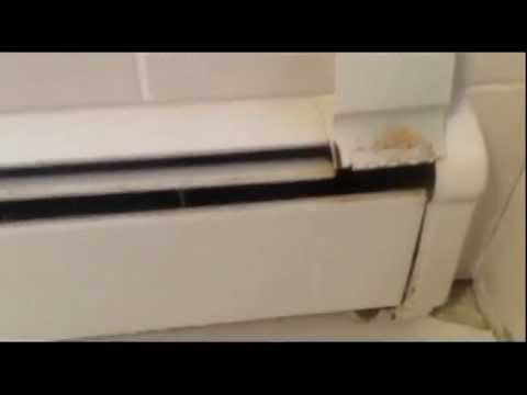 Bathroom tile and hotwater baseboard heat install youtube for How to heat a bathroom