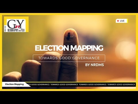 Geo-spatial applications for Election Mapping by NRDMS