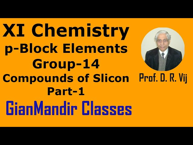 XI Chemistry | p-Block Elements | Group 14 | Compounds of Silicon Part-1 by Ruchi Ma'am