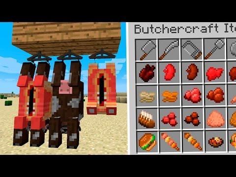 BUTCHERCRAFT MOD - El mod mas CRUEL con las vacas! - Minecraft mod 1.11.2 Review ESPAÑOL
