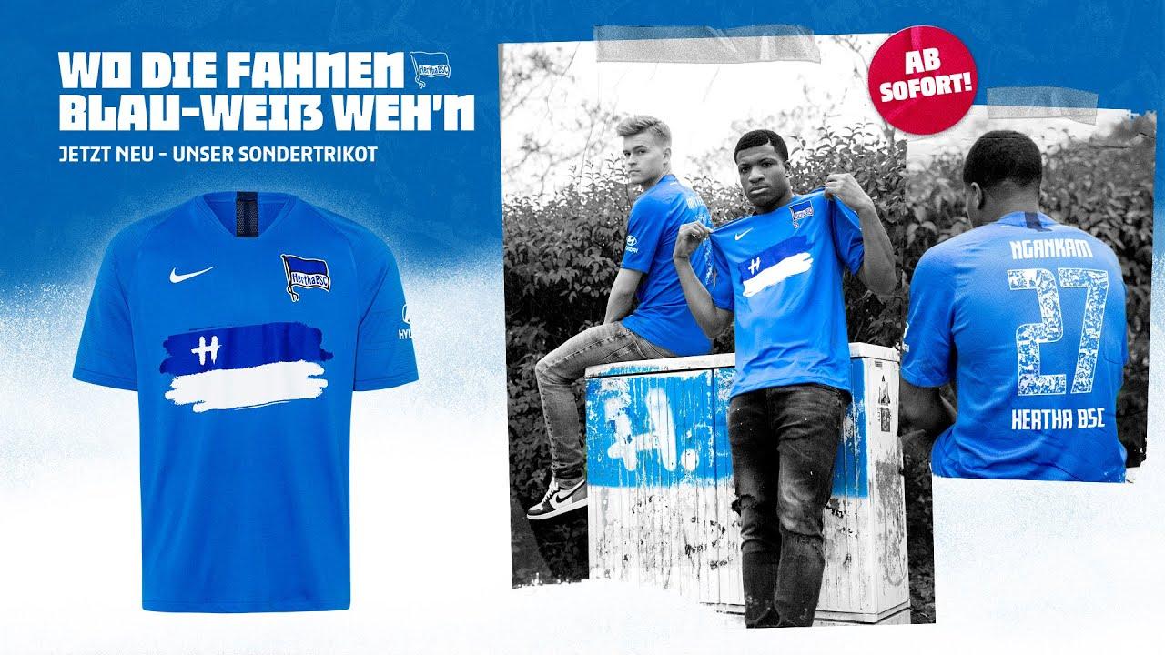 Hertha BSC T-Shirt Blau-Weiss
