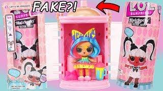 FAKE LOL Surprise #Hairgoals Dolls Makeover Series Fake VS Real Series 5