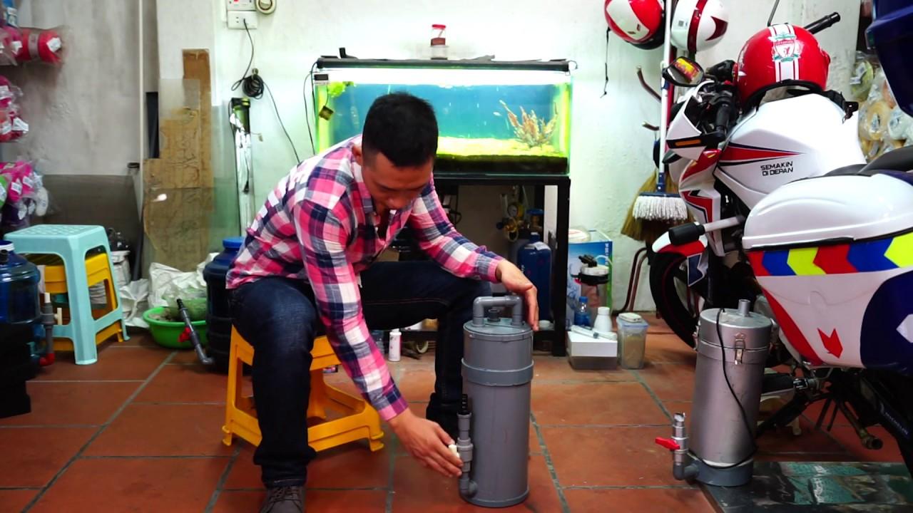 Hướng dẫn làm lọc chế ren xoáy phi 160 đựng đc 8 lít vll