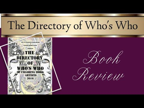 The Directory of Who's Who of Coloring Book Artists 2016 - Review