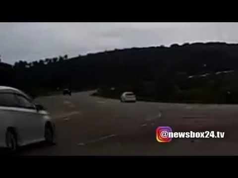 Момент ДТП, в котором в Приморье погибла семья из Белогорска, попал на видео