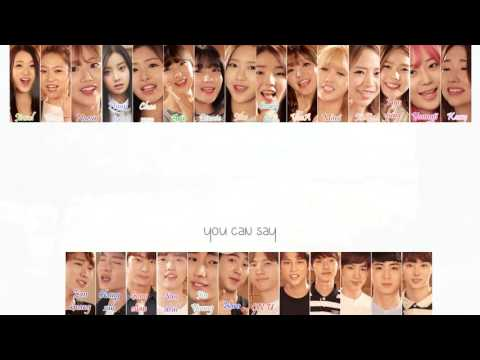 A-Jax, BtoB, B1A4, Oh My Girl, April, Kara Youngji, Kassy - Fingertips Love (손끝의 사랑)   [ Lyric ]