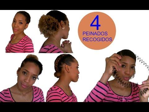 Peinados Recogidos Para Cabello Corto Afro Rizado Luisanna Cf Youtube