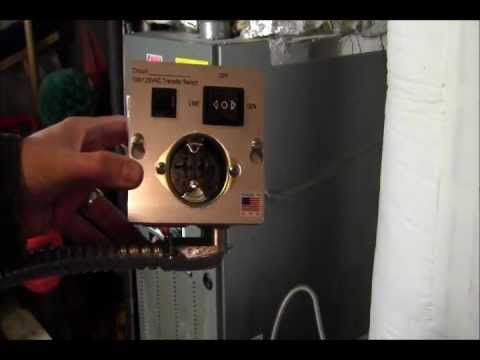 RicksDIY How to Wire generator transfer switch to a Gas Furnace DIY install Instructions