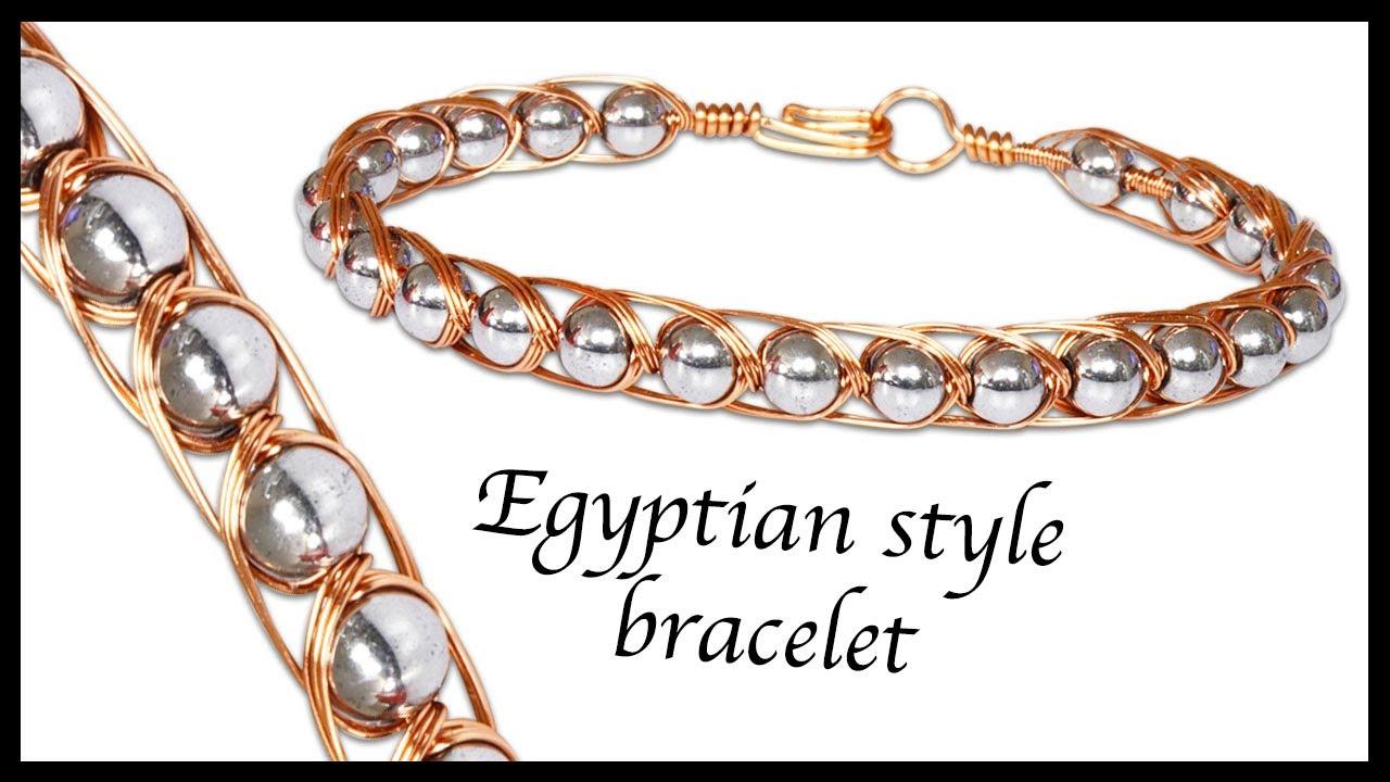 Intertwining Egyptian style wirework bracelet - YouTube