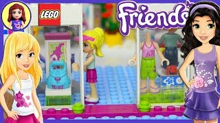 Lego Friends Heartlake Shopping Mall Build Review and Play Part 1 - Kids Toys