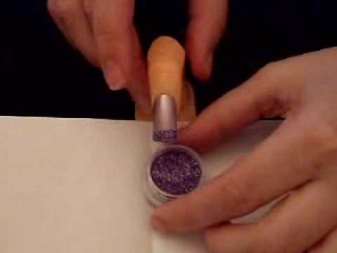 Nail art how to use glitter dust youtube prinsesfo Images