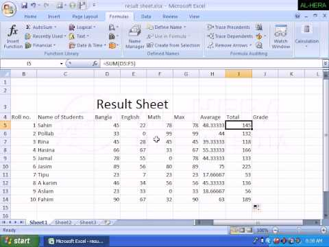 How To Make an Attendance Sheet || MS Excel || Hindi | Doovi