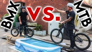 OBSTACLE PARKOUR BMX vs. MTB! Marc VS Michi