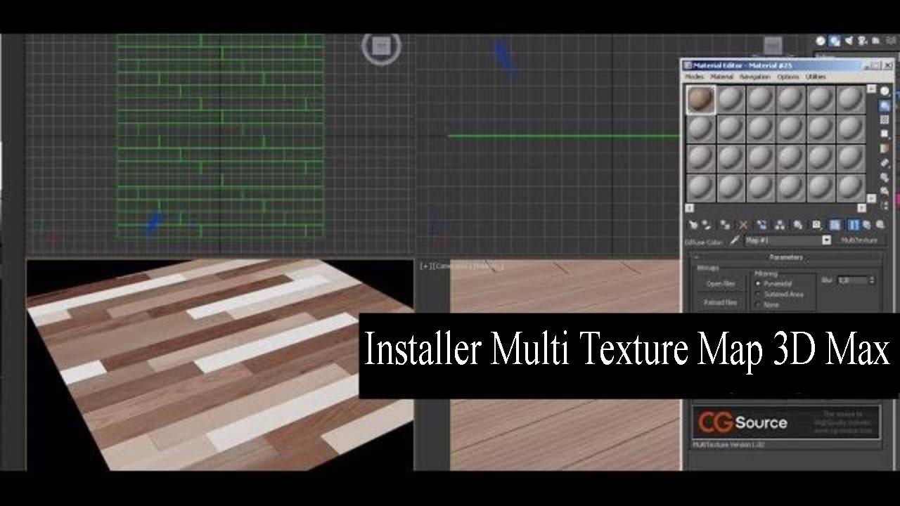 Installer Multi Texture Map 3D Max