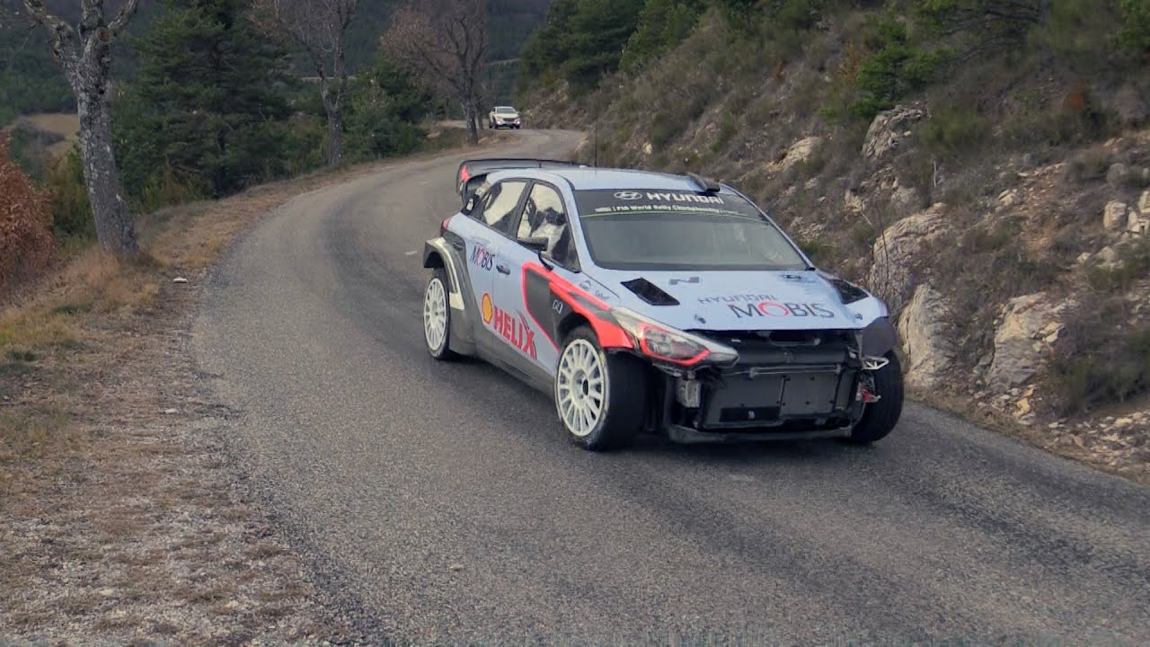 test rallye de monte carlo 2016 sordo hyundai i20 wrc youtube. Black Bedroom Furniture Sets. Home Design Ideas