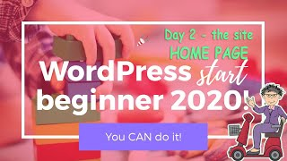 WordPress Beginner 2020 | A Pet Sitting Business Home Page