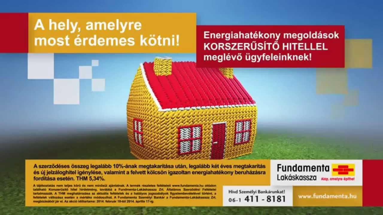 Fundamenta Korszerűsítő hitel reklámfilm - YouTube