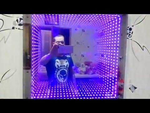 зеркало с эффектом бесконечности , 3D панель