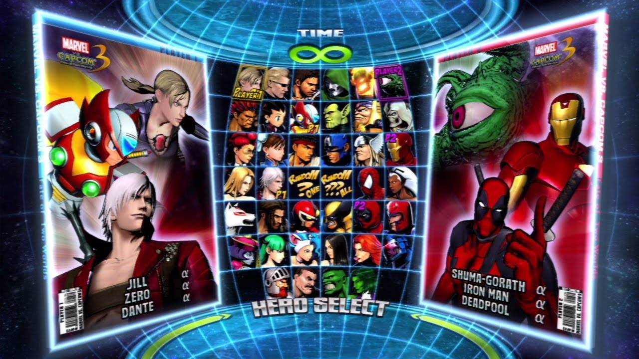 Marvel vs. Capcom 3: Fate of Two Worlds All Characters (Including DLC)  [PS3] - YouTube