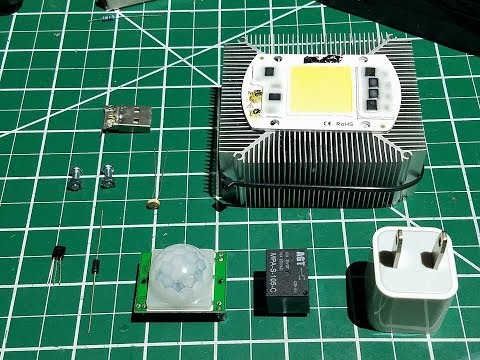 Motion Sensor and Light Detector Tutorial - Using 100 watts 220 Volts AC LED