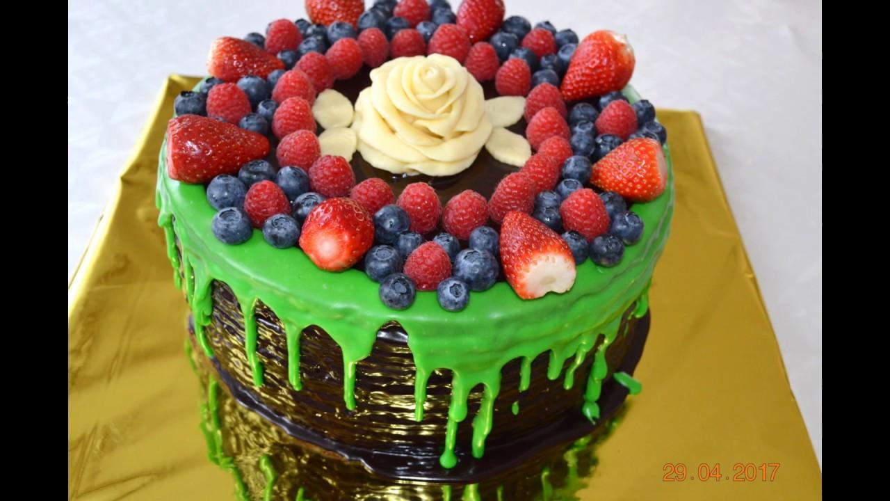 торт спартак с ягодами / Beeren Torte - YouTube