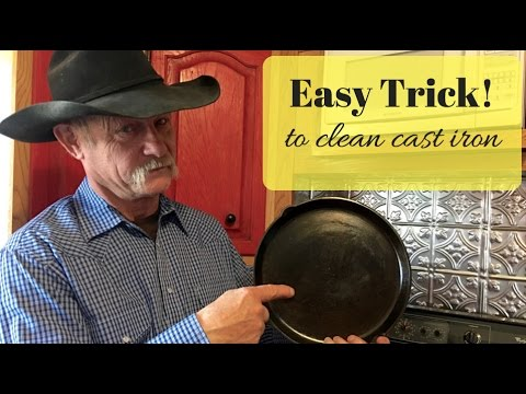 Easy Trick To Clean Cast Iron