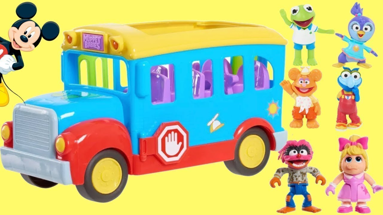 Download Going Back to School with Muppet Babies First Day Bus Play Set