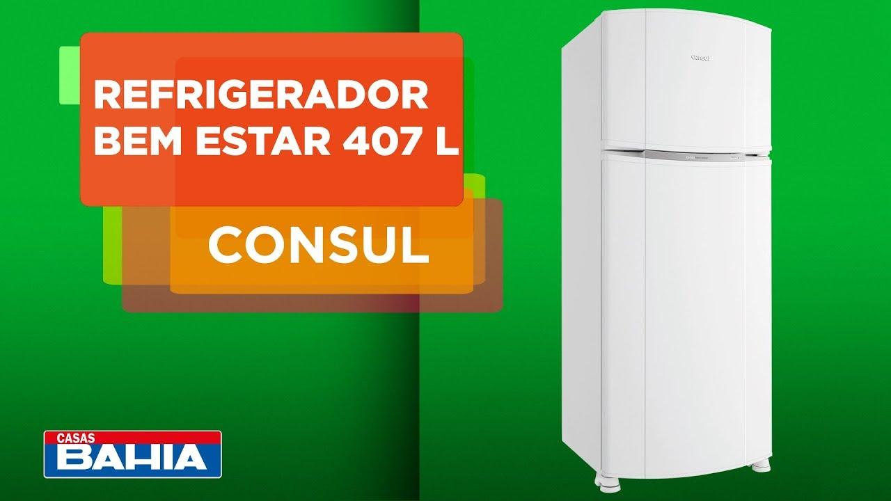 Conheça o Refrigerador Consul Bem Estar Frost Free 407 L ...