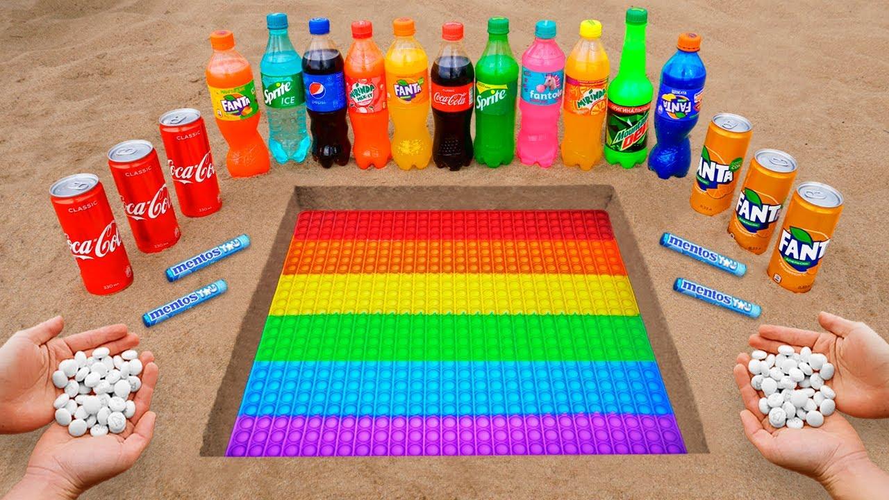 Download POP IT Logo in the Hole with Orbeez, Coca Cola, Mentos & Popular Sodas