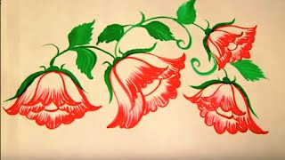 FREE HAND BED SHEET PAINTING By Premlata