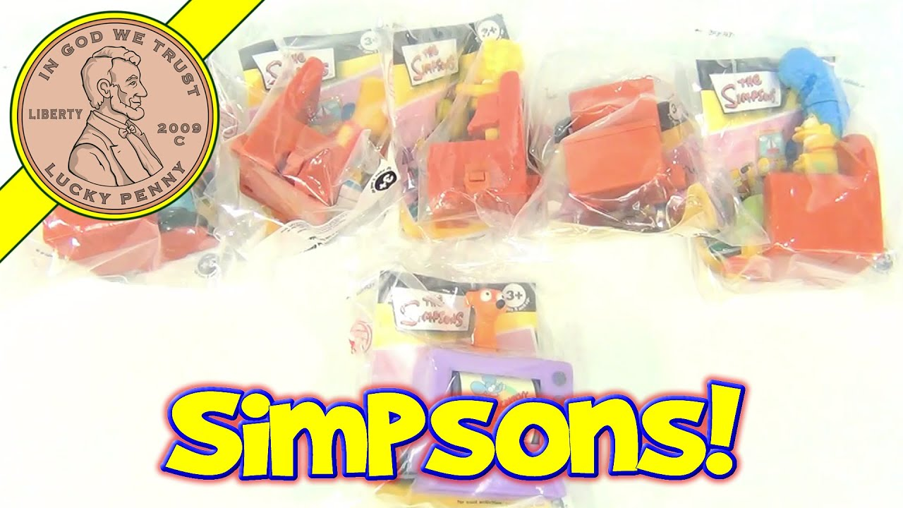 The Simpsons Couch A Bunga Burger King Kids Meal Toy Collection