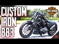 CUSTOM Harley Iron 883 Reveal! 🛠 Giveaway! (S2 Ep10)