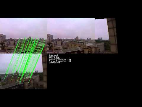 Simple video image stitching with opencv