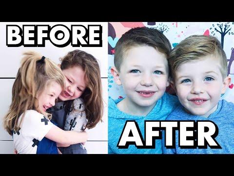 Amazing Hair Transformation! Boys Get Their Long Hair Cut Short!