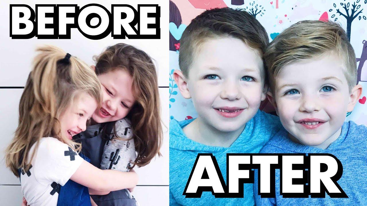 Amazing Hair Transformation Boys Get Their Long Hair Cut Short