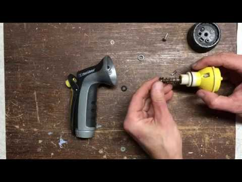 Hose Spray Nozzle >> How to Repair a Broken or Leaky Melnor Hose Nozzle - YouTube