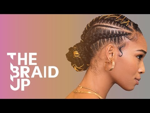 Golden Braided Bun | The Braid Up | Cosmopolitan