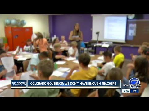 Colorado governor: We don't have enough teachers