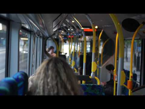 Sweden, Stockholm, public transport, riding bus number 3 from Slussen to Tegelbacken