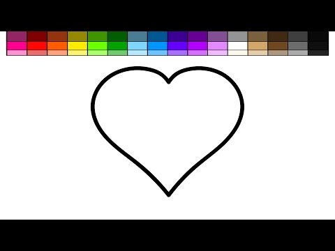 Thumbnail: Learn Colors for Kids and Color Many Hearts Coloring Page