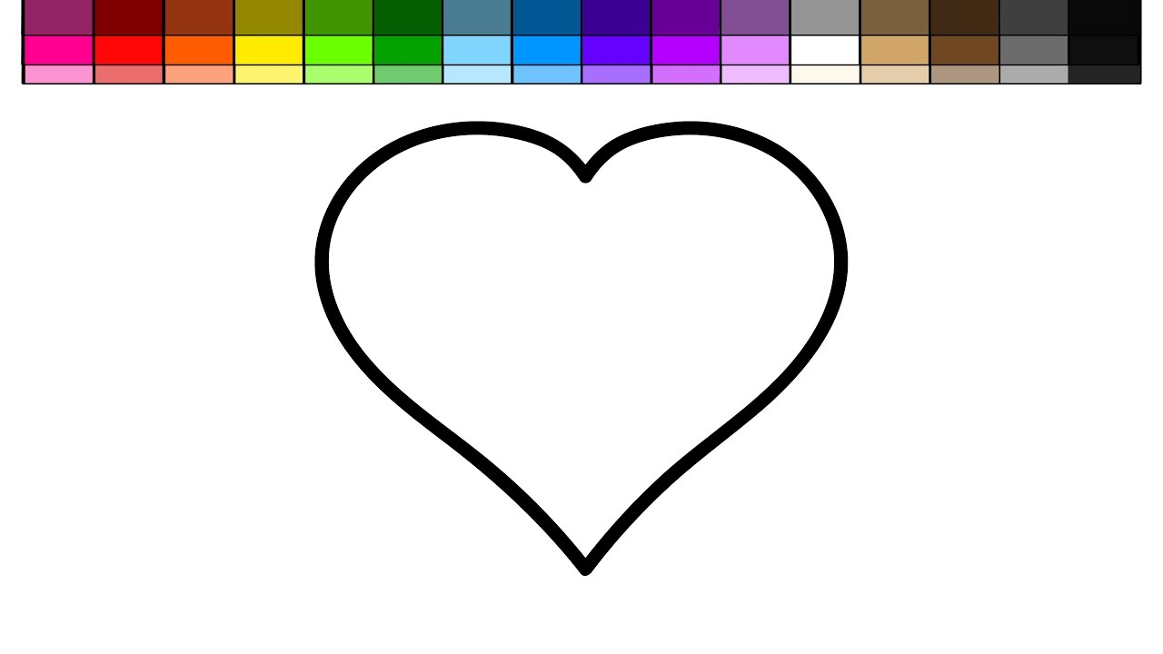 learn colors for kids and color many hearts coloring page youtube