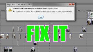 HOW TO FIX ALL FREEZE/CRASH/RENDERING PROBLEMS | SONY VEGAS |